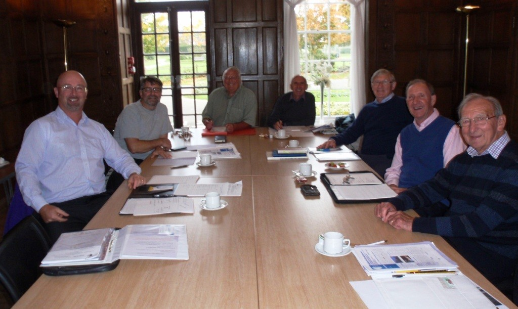 'HARLOW TO K2 AND BEYOND' :: THE EDITORIAL GROUP L to R Dave Fisher, Hywel Griffiths, Jack Wilkinson, John Birch, John Thorpe, John Stride, Mike Fulford, Mike Fitzjohn, Malcolm Tungatt and Gerry Carver