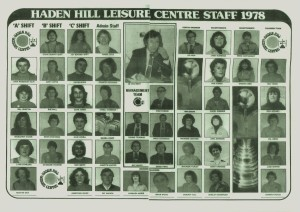 Haden Hill Leisure Centre Staff 1978