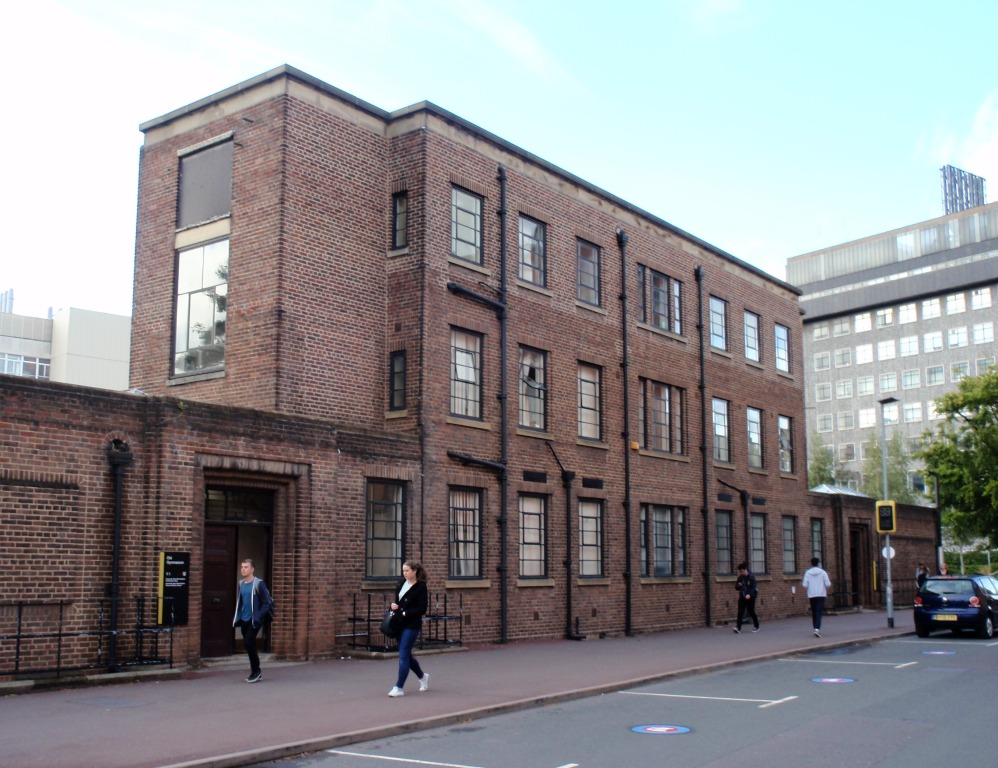 Birmingham University's Old Gym - constructed from 1939-41. It was built under the supervision of David Munrow