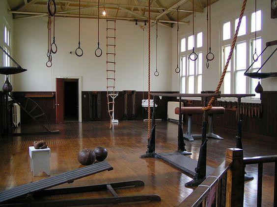 Old fashioned school gymnasium