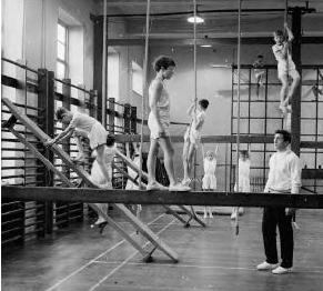 Traditional school gym