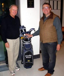 Mark Potiriadis (r) with Jack Nicklaus