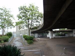 Westway beneath motorway